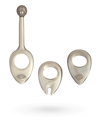 'Expandable Cock Rings', 3teilig, 25cm