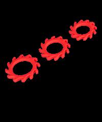 'Gears', 25cm, 3teilig