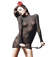 Spitzen-Kleidchen mit Stehkragen