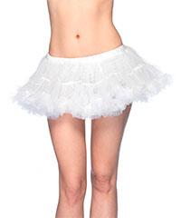 Knapper Petticoat mit Satinrüschen