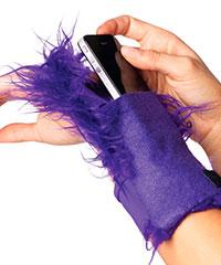 Ausgefallene Felltasche fürs Handgelenk