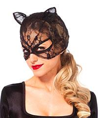 Katzenmaske aus zartem Netz