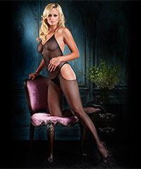 Bodystocking in feiner Netz-Optik