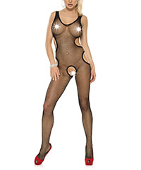 Ouvert-Bodystocking mit Cut Outs