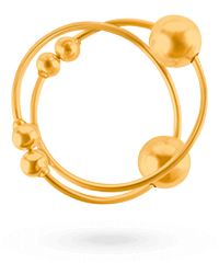'Gold Nipple Bull Rings', 1 Paar