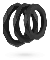 'Facet Cockrings', 3 Stk., 2,7 ‑ 4,7 cm