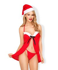 Weihnachts-Babydoll, 3 Teile