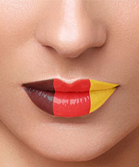 Lip Tattoo 'Deutschland'