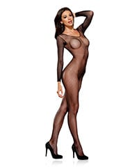 Netz-Bodystocking im Ouvert-Look
