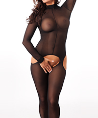 Schlichter Bodystocking mit Cut Outs