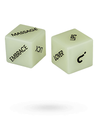 'Glow in the Dark Love Dice', 2 Stück