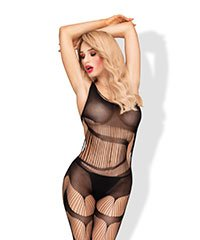 Bodystocking in Schlitz-Optik