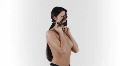 Sinnliche Augenblicke mit dem 'Ballknebel mit Kopfgeschirr'? EIS zeigt es Dir!