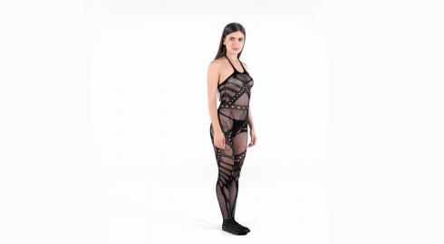 Erotik pur im 'Crotchless Bodystocking' von Baci Lingerie? EIS weiß wie!