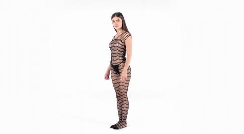 Sexy aussehen im 'Criss Cross Bodystocking' von Baci Lingerie? EIS weiß wie!