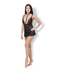'Lace Harness Babydoll & String', 2 Teile