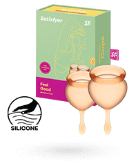 Satisfyer 'Feel Good - Menstrual Cup Set', 15 & 20 ml