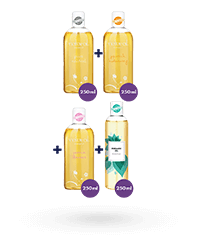 Vielseitiges Massageöl-Set, 4 x 250 ml