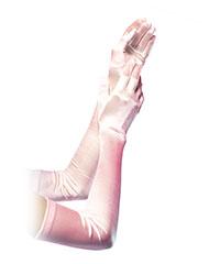 Lange Satin-Handschuhe
