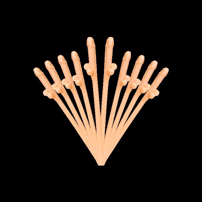 Penis-Strohhalme, 10Stück