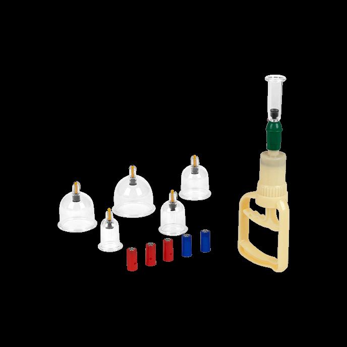 Schröpfgläser mit Pumpe, 7 Teile