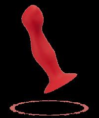 Dildo mit innenliegenden Kugeln, Silikon, 18cm