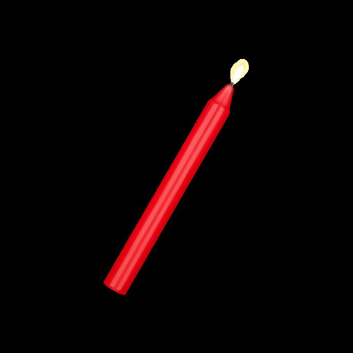 Verführerische Wachskerze, 1 Stück
