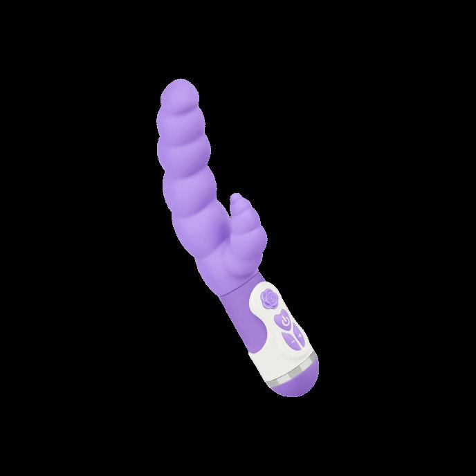 Silikon-Vibrator mit Struktur, 24cm