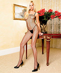 Grobmaschiger Netz-Bodystocking