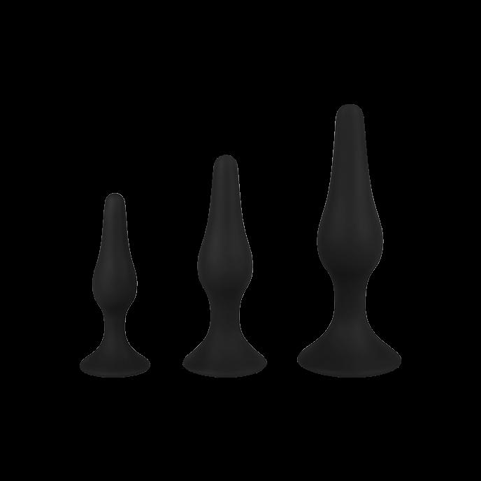 Tropfenförmige Analplugs aus Silikon, 3 Größen