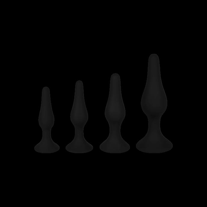 EIS Analplug-Set aus Silikon, 4 Größen