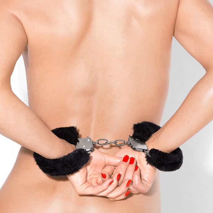 Handschellen mit Plüsch