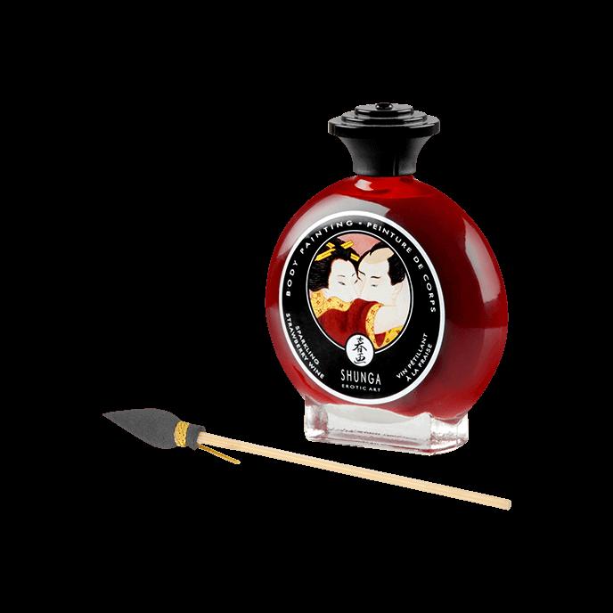 SHUNGA Body Painting 'Erdbeer-Sekt', 100 ml