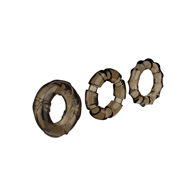 ´Stretchy Cock Rings´, 3Teile, 2,55,5cm