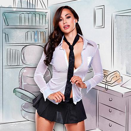 Sekretärin-Kostüm, 3Teile