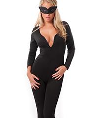 Catwoman-Kostüm mit Maske, 2tlg.
