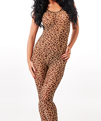 Sexy Bodystocking in Leoparden-Optik