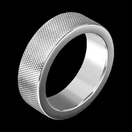 Massiver Ring mit Rautenmuster, 4cm