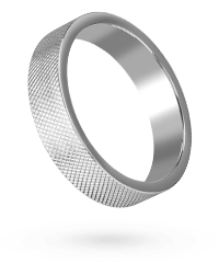 Massiver Ring mit Rautenmuster, 5,5cm