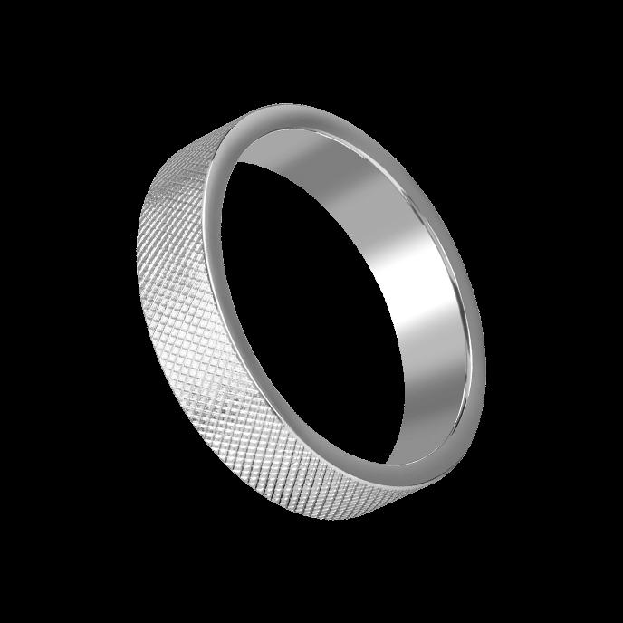 Rimba Massiver Ring mit Rautenmuster, 5,5 cm
