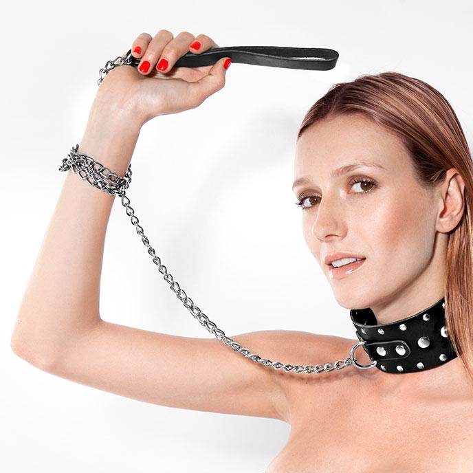Rimba Breites Halsband mit Leine