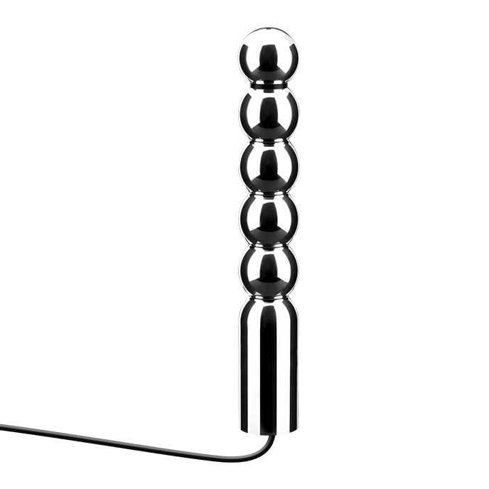 Rimba Aluminium-Dildo mit Kugelform, 16,5 cm