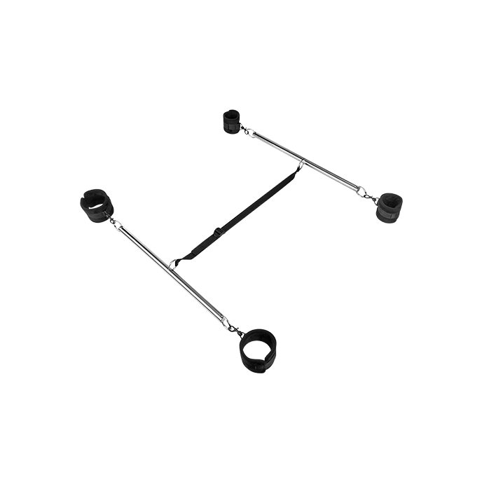´Double Spreader Bar with Soft Cuffs´, 4Teile