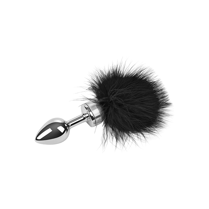 Edelstahl-Dildo mit Federn, silber, 18 cm