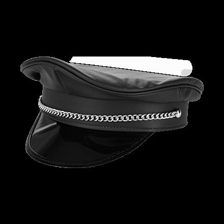 Polizei-Mütze in Leder-Optik