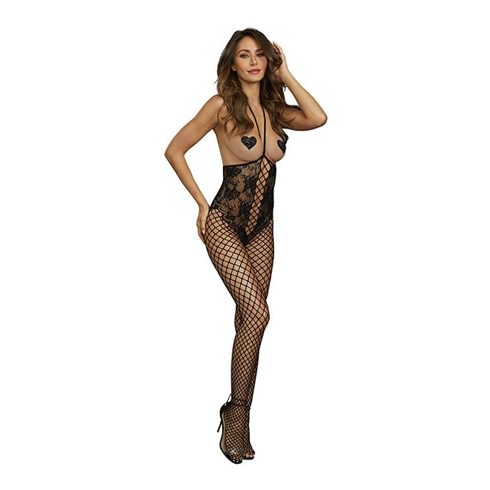 Dreamgirl Ouvert-Bodystocking mit Netzdetails