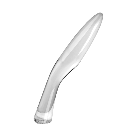 Geschwungener Glasdildo, 18cm