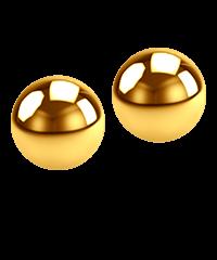 'Gold Ben Wa Balls', 2cm
