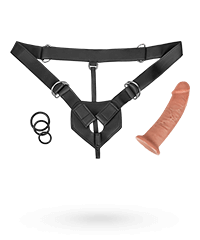 'Strap-On Harness', 23 cm, 7-teilig