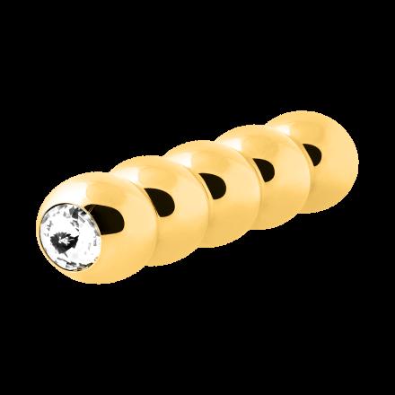 'La Chenille', gold 12cm